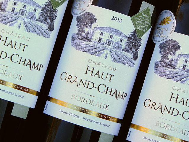 Bordeaux Wein Haut Grand Champ 2012