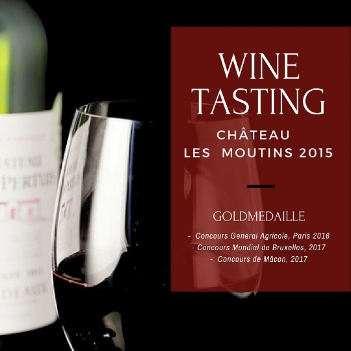 Chateau Les Moutins, Tasting, Award, Medaille